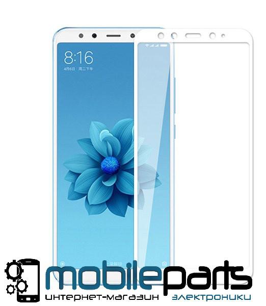 Защитное стекло для мобильного телефона Xiaomi Mi A2 | Mi6x (0,25 мм,3D)(Белое)(Тех.упаковка,без салфеток)