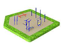 Спортивная площадка с уличными тренажерами 2870, фото 1