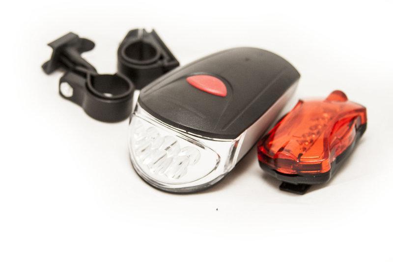 Велосипедный фонарь (комплект - передний и задний) Kaikuo KK-760