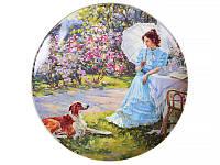 Декоративная тарелка Lefard Барышня в саду 20 см 924-229