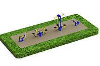 Спортивная площадка с уличными тренажерами 3805, фото 1
