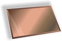 Зеркальная плитка НСК прямоугольник 450х550 мм фацет 15 мм бронза, фото 1