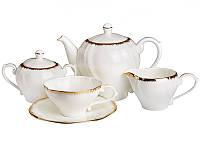 Чайный набор Lefard Золотая волна на 15 предметов 264-031