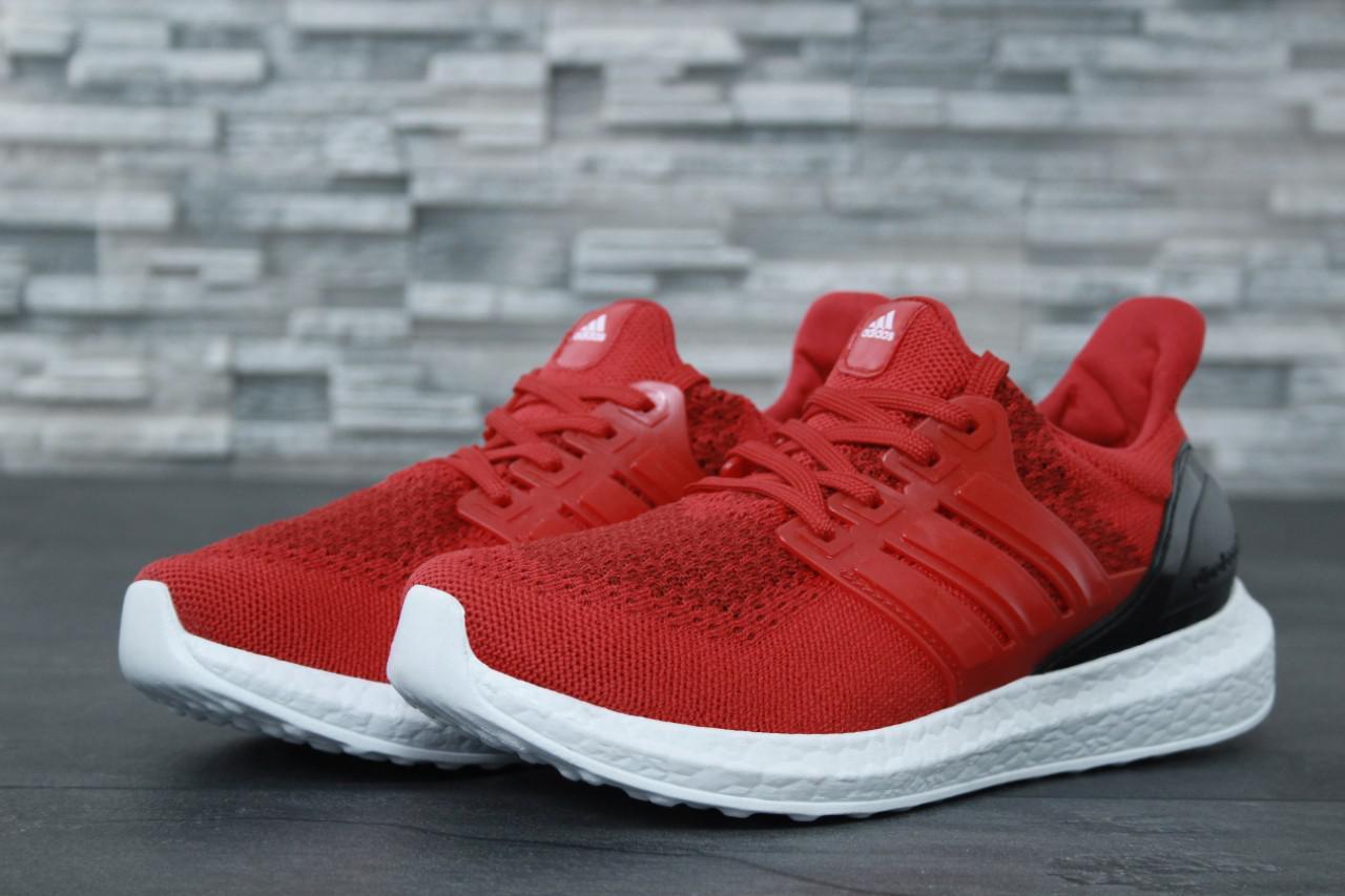 Мужские красные Кроссовки Adidas Ultra Boost(реплика)