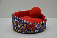 Лежак для котів і собак Зірочка синій