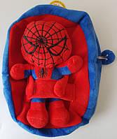 Детский плюшевый рюкзачок с игрушкой человек паук ( спайдер мен )
