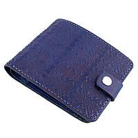 Кожаное портмоне П1-23-01 (синее), фото 1