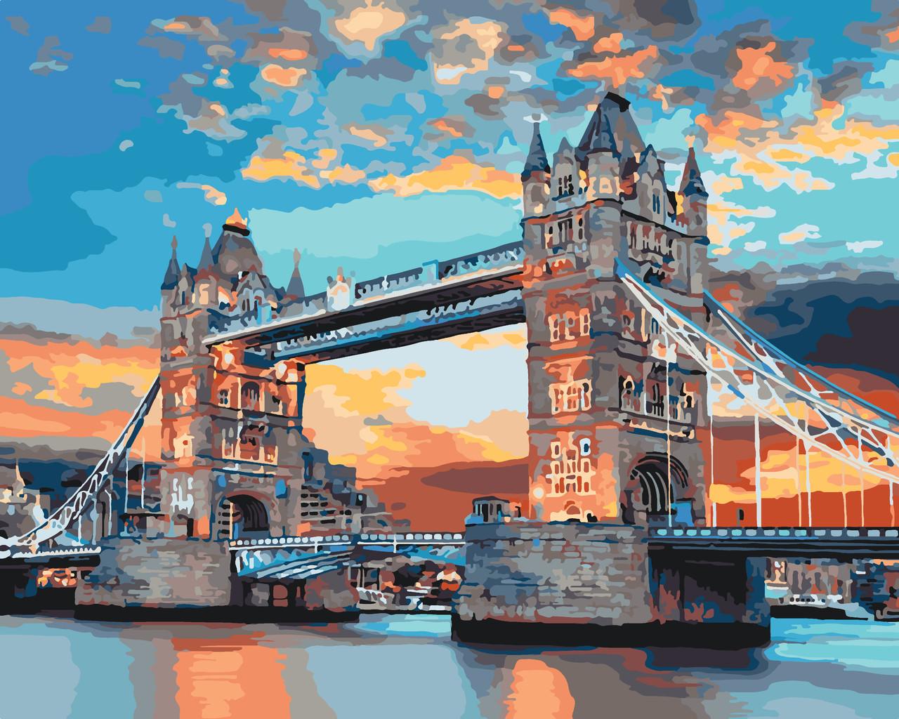 """Картина по номерам """"Лондонский мост"""", 40x50 см., Идейка"""