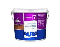 Aura Luxpro 7 Белая 10 л - Краска для высококачественной отделки потолков и стен, акрилатная, шелково-матовая