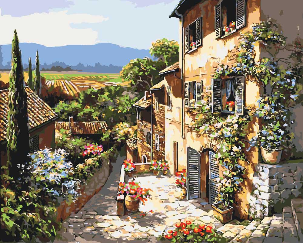 Картина по номерам Пейзажы Тосканы, 40x50 см., Идейка