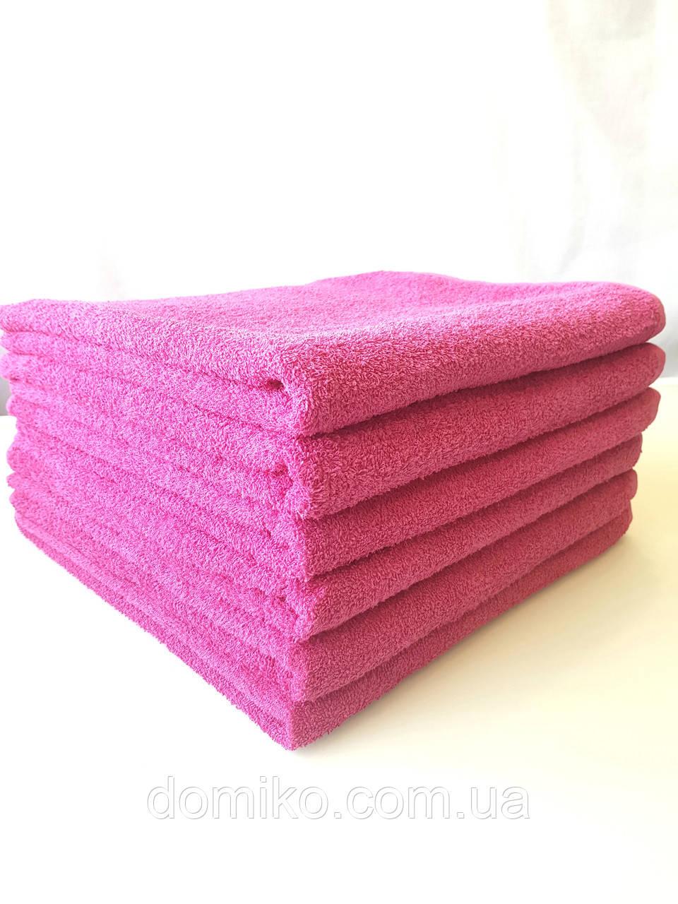 Полотенце махровое банное 70*140 розовое Узбекистан