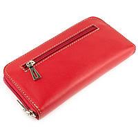 Женский кожаный кошелек на молнии LIKA (красный), фото 1