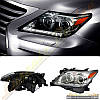 Фары черные для Lexus LX 570 2012-16