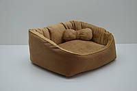 Лежанка для собак и котов Замш, фото 1