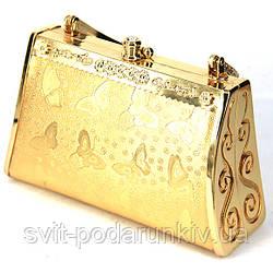 Модный клатч золотой S06