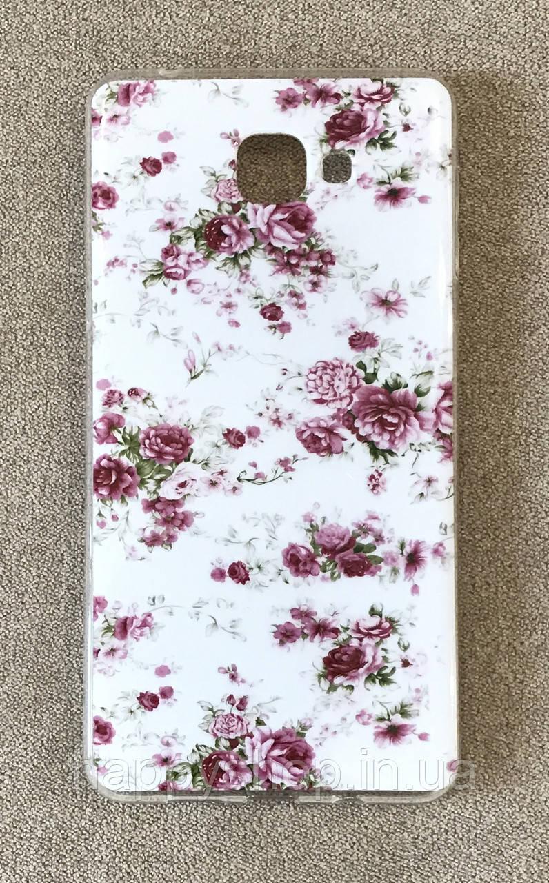 Силиконовый чехол для HTC One A9 (Flowers)