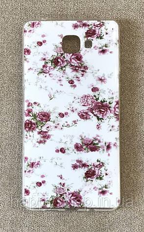 Силиконовый чехол для HTC One A9 (Flowers), фото 2