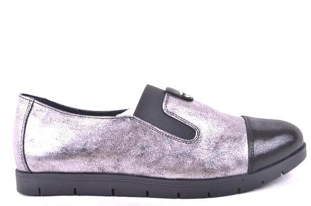 Женские туфли (арт.1200 никель сат)