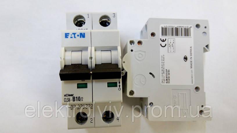 Автоматический выключатель Eaton CLS6-B10/2-DP