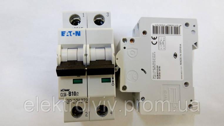 Автоматический выключатель Eaton CLS6-B10/2-DP, фото 2