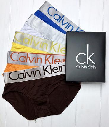 Подарочный набор женского нижнего белья  Calvin Klein, трусики женские - слипы (5шт, модал) реплика, фото 2