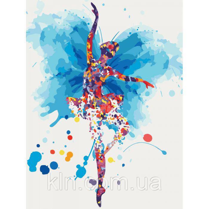 Картина за номерами без коробки 30 х 40 см Витончена балерина Ідейка КНО2696