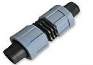 Cоединитель для капельной ленты с поджимом (ремонтник),