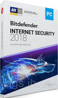 Bitdefender 2018 Internet Security 3 User 2 года Global