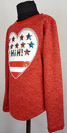 Батник  для девочки СВИТОЧ р. 134-152 красный, фото 2