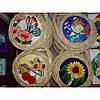 Керамические картины №3 кругл (цветы, рыбы, бабочки), фото 2