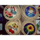 Керамические картины №3 кругл (цветы, рыбы, бабочки)