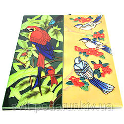 Керамические картины №4 прямоугольные (абстракция, птички)