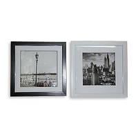 Картина ретро 23*23 B-81 (2 цвета черный, белый)