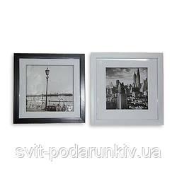 Картина черно-белая 23*23 B-81 (2 цвета черный, белый)