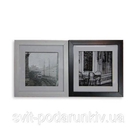 Картина черно-белая 28*28 B-79 (2 цвета черный, белый)
