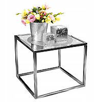 Журнальный столик из хромированной стали 50x50 GLAMOR, фото 1