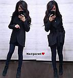 Женский стильный плотный кардиган-пальто с капюшоном и поясом (4 цвета), фото 8