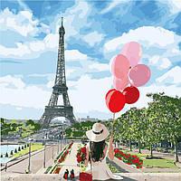 Картина по номерам без коробки 40 х 40 см Волшебный Париж Идейка КНО2699, фото 1