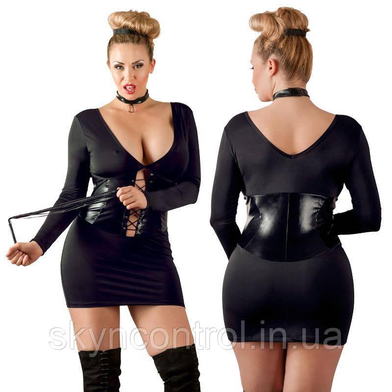 Короткое платье черное cottelli collection 3XL