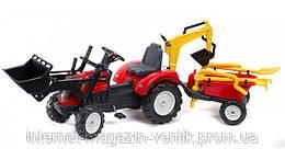 Детский трактор с прицепом Falk
