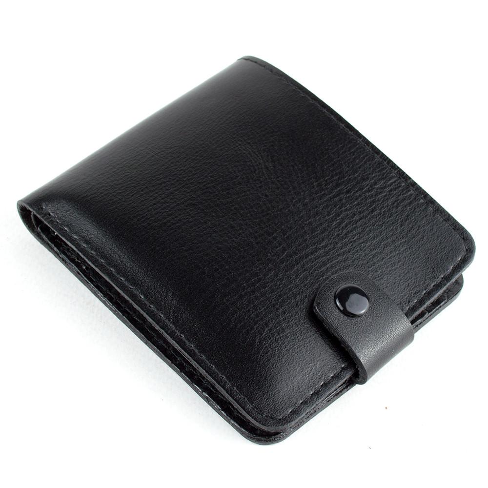 Кожаное портмоне П1-01 (черное)