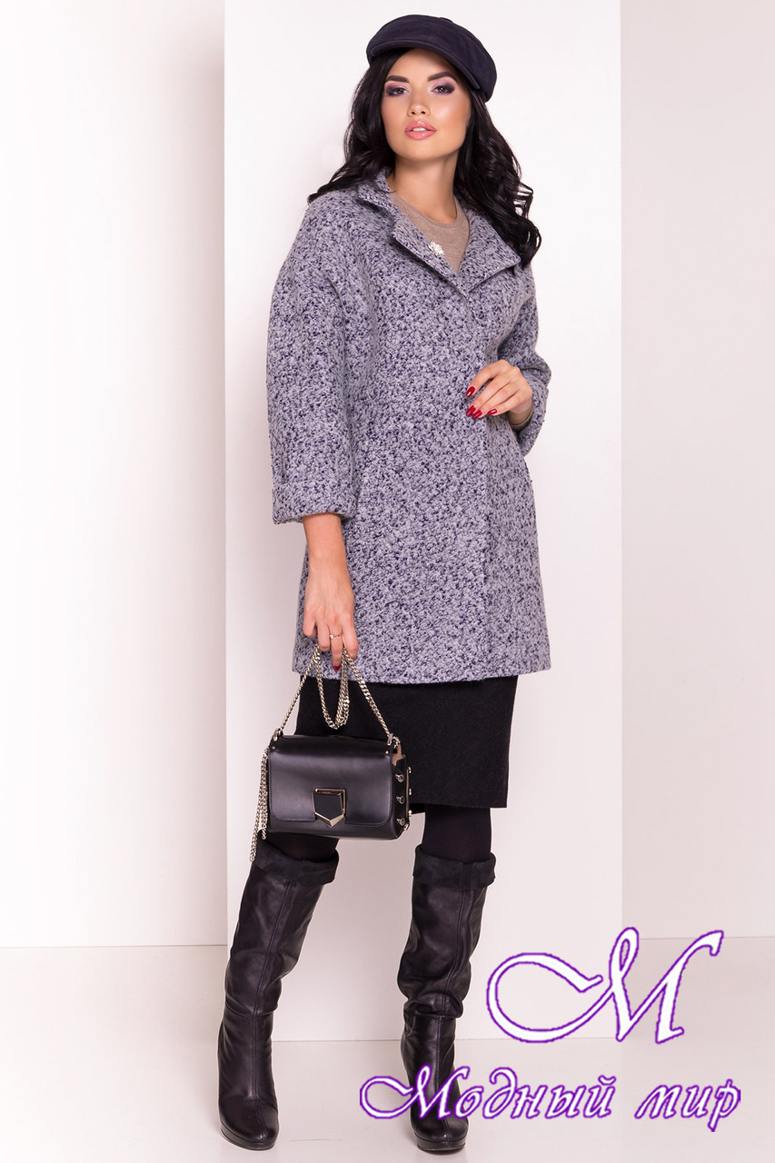 Женское модное осеннее пальто (р. S, M, L) арт. Кларенс крупное букле - 9799
