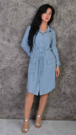 """Платье-рубашка """"Лана"""" размеры 42-44"""