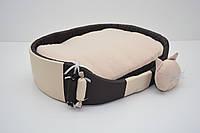 Лежак для собак и котов Комфорт лето коричневый