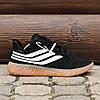 Чоловічі кросівки Adidas Sobakov Black/White/Gum, фото 5