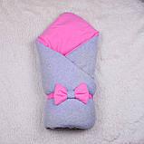 Демисезонный набор для новорожденных Mini, серый с розовым, фото 2