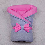 Демисезонный набор для новорожденных Mini, серый с розовым, фото 3