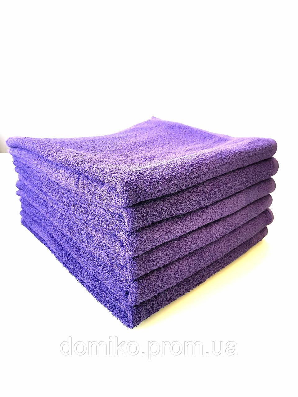 Махровое полотенце банное 70*140 фиолетовое Узбекистан