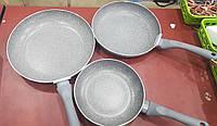 Набор сковородок EDENBERG EB-9902 мрамор (3 предмета) 20, 24, 28 см