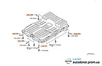 Пластина крепления рамы аккумуляторной батареи Nissan Leaf ZE0 / AZE0 (10-17) 744J7-3NA0A